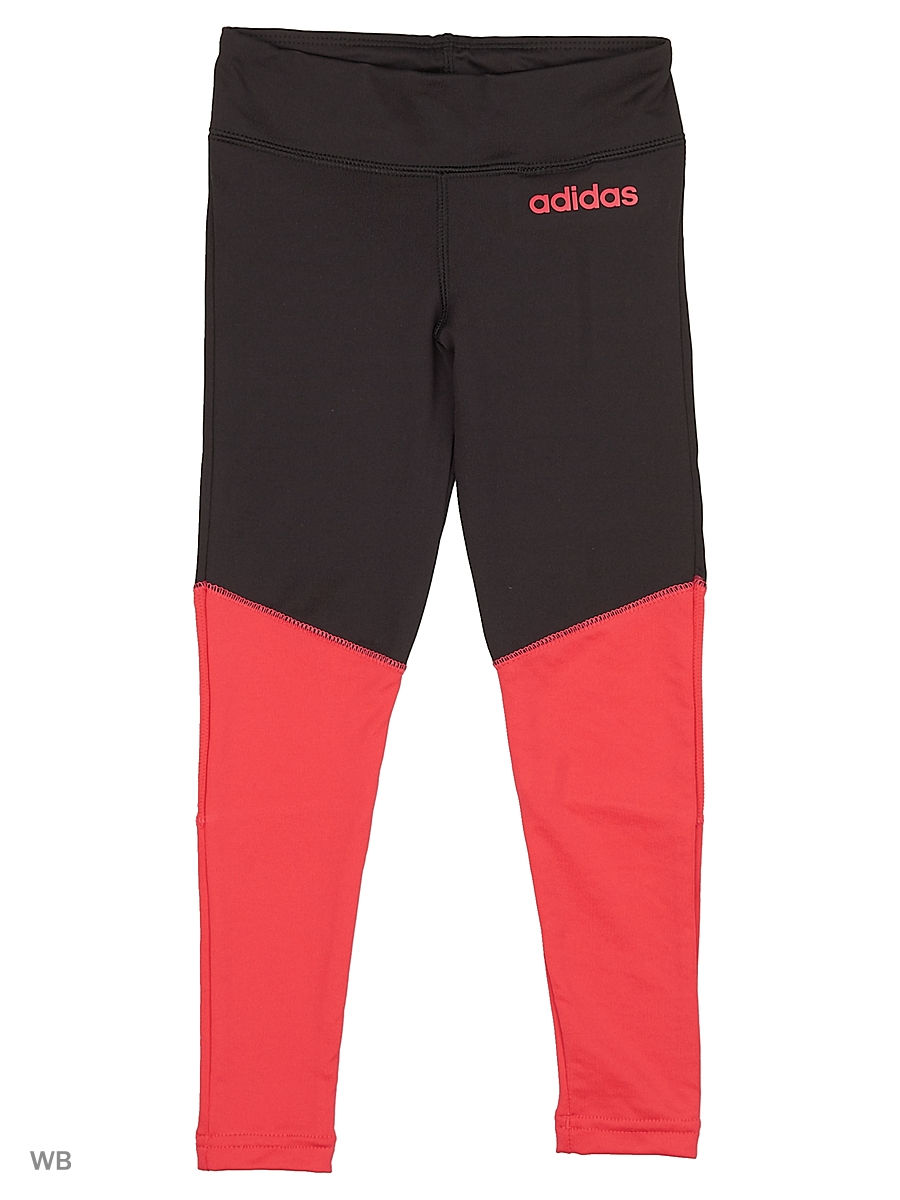 Леггинсы  YG C Long Tight     BLACK/POWPNK adidas 13683346 в интернет-магазине Wildberries.ru
