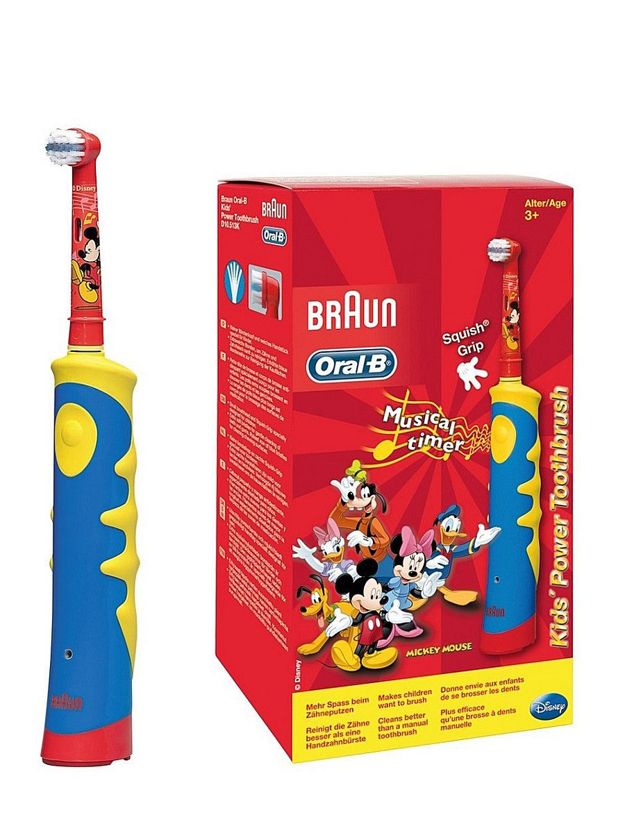 ORAL-B Э/щетка D10.513K Mickey Kids Braun. Цвет красный.