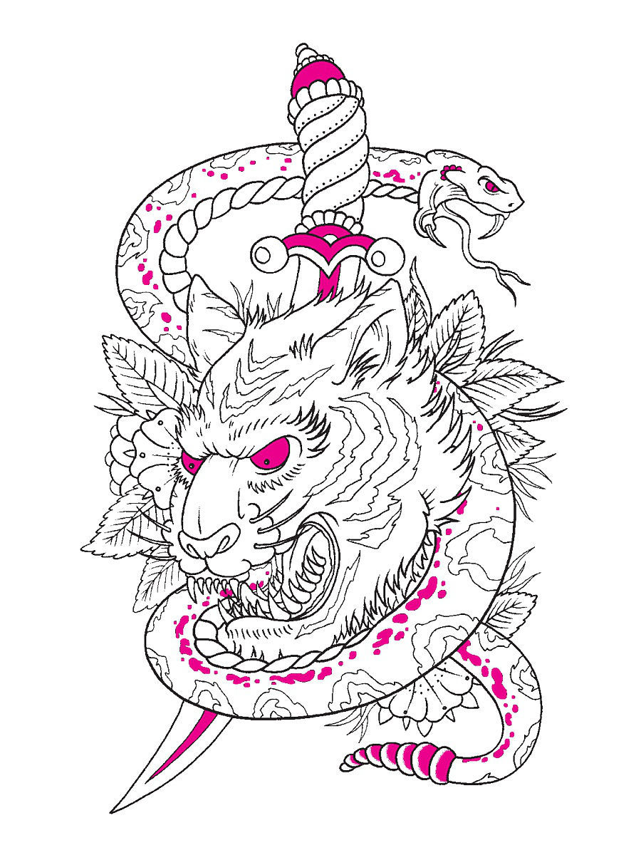 The tattoo coloring book megamunden - The Tattoo Colouring Book Megamunden