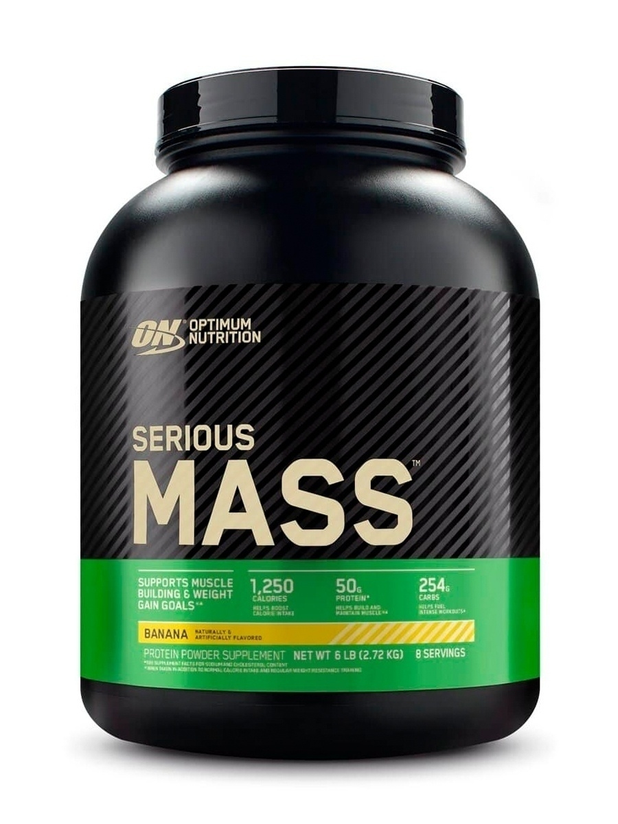 Гейнер Serious Mass 6 lb (2720 г.) - Banana Optimum Nutrition 9055312 в  интернет-магазине Wildberries.ru