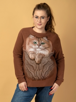 Big Fleece Cat Sweatshirt Sweatshirt Big MF