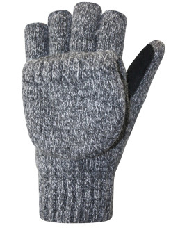 Mittens, elastic, insulated, knitted AUCLAIR
