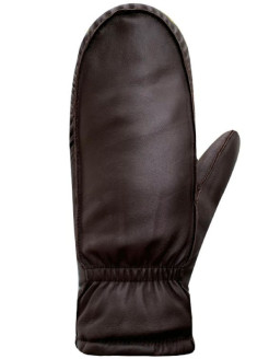 Mittens, elastic, insulated, leather AUCLAIR