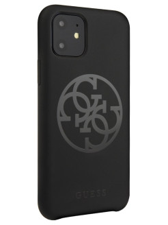 Guess Case for iPhone 11 Silicone collection 4G logo Hard Black GUESS