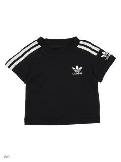 Футболка  NEW ICON TEE        BLACK/WHITE adidas