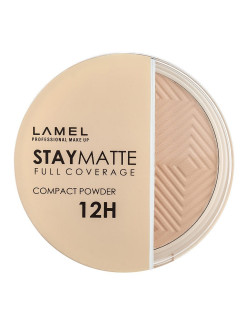 Пудра для лица Stay Matte Compact Powder, 402 cold ivory Lamel