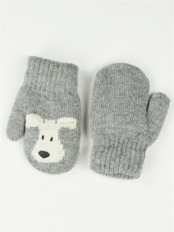 Mittens, without elements, knitted КОРОНА.