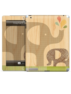 Виниловая наклейка для iPad Elephant with Calf-Petit Collage. Gelaskins