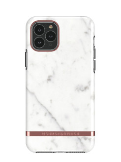 Чехол-накладка Richmond & Finch для iPhone 11 Pro Max Freedom White Marble/Rose Gold Richmond & Finch