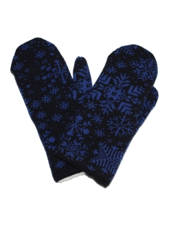 Mittens, without elements, knitted Maxval