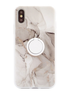 Чехол iphone X/Xs marble series с холдером Habitu