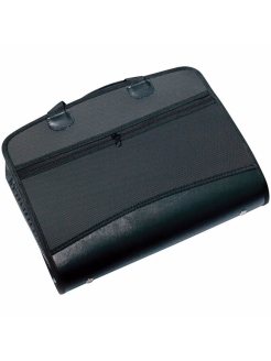 Plastic A4 briefcase-folder, business class, 4 compartments, 2 pockets Brauberg