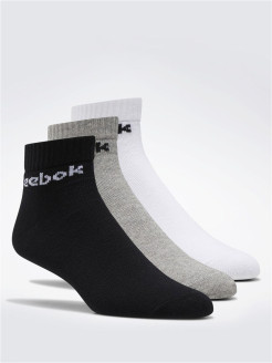 Носки ACT CORE ANKLE SOCK WHITE/BLACK/MGREYH Reebok