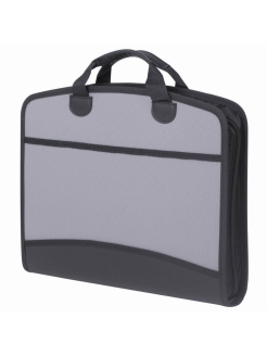 A4 plastic briefcase, 4 compartments, 2 pockets Brauberg