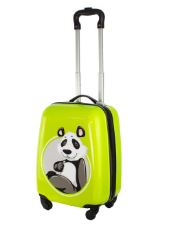 "Plastic children's suitcase on 4 wheels ""Panda"" for boys and girls, XS-carry-on baggage, 41 cm PROFFI"