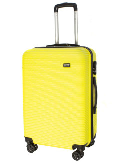 4-wheel TOUR DAILY suitcase plastic, medium M, yellow, 60 l, 66 cm PROFFI