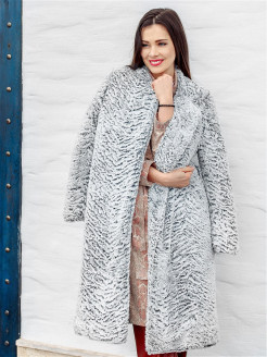 Eco-fur coat, spring Val'Za