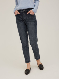 Jeans, boiled effect, scuff effect, shortened Primm
