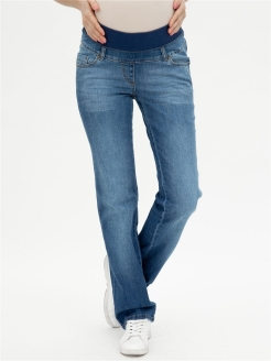 Jeans, breathable material, elastic material, straight lines Mama's fantasy