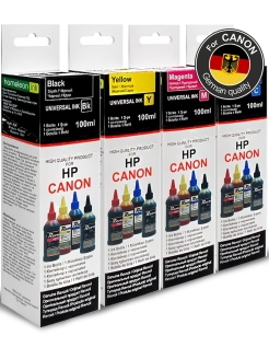 Printer inks, Set for HP, Canop, 4 colors * 100ml Revcol