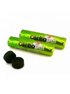 Coal for a hookah Carbopol