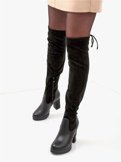 Over-the-knee boots O-LIVE naturalle
