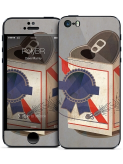 Наклейка для iPhone 5/5S PolyBR - Dave Murray Gelaskins