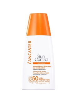 Солнцезащитный флюид Sun Control Anti-Wrinkles & Dark Spots Sun Sensitive Skin Radiant Glow Fluid SP LANCASTER