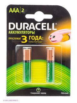 Аккумулятор Duracell HR03-2BL 750mAh AAA DURACELL