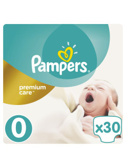 Подгузники Pampers Premium Care 1-2,5 кг, 0 размер, 30шт Pampers