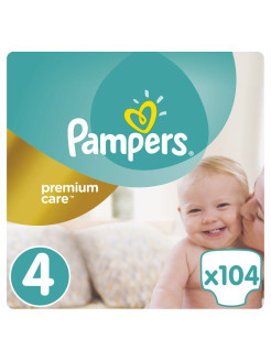 Подгузники Pampers Premium Care, 8-14 кг, 104 шт. Pampers