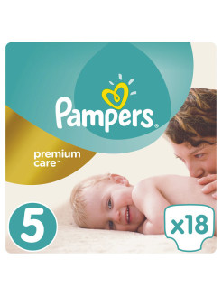 Подгузники Pampers Premium Care 11-18 кг, 5 размер, 18 шт Pampers