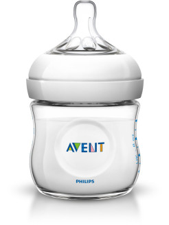 Бутылочка Natural SCF690/17, 125 мл, 1 шт, 0 мес.+ Philips AVENT