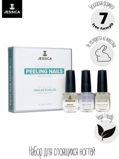 Набор для слоящихся ногтей Peeling Nail Kit (Mini) (Fusion + Brilliance + Phenomen Oil) JESSICA