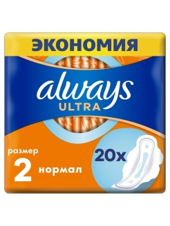 Sanitary pads, 20 pcs., for critical days Always