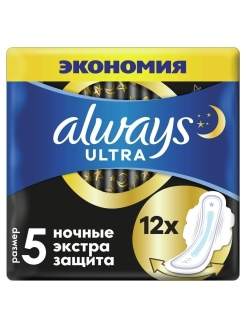 Sanitary pads, 12 pcs., for critical days Always