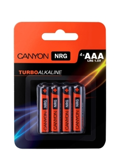 Батарейки, Canyon NRG alkaline battery AAA, 4pcs/pack. CANYON