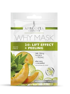 Маска для лица лифтинг и пилинг 24 часа WHY MASK AFRODITA COSMETICS
