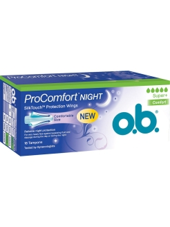 Тампоны ProComfort Night Super Plus Comfort 16 шт o.b.