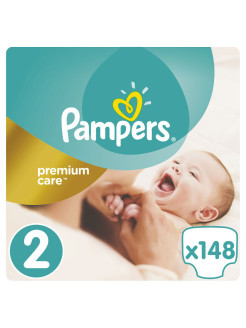 Подгузники Pampers Premium Care 3-6 кг, 2 размер, 148 шт. Pampers