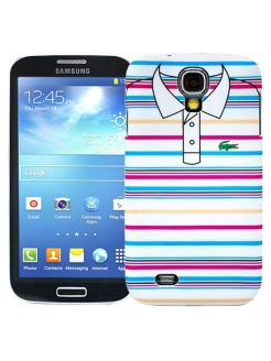 "Чехол для Samsung Galaxy S4 ""Blue and pink stripes"", серия ""Sports shirt"" Kawaii Factory"