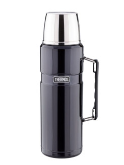 Термос со стальной колбой SK2020 Matte Black King Stainless Steel Vacuum Flask. 2.0L Thermos