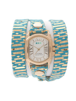 Часы La Mer Collections Simple Chateau Teal Egyptian La Mer Collections