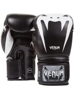 Перчатки боксерские Venum Giant 3.0 Black Nappa Leather Venum