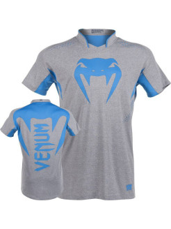 Футболка Venum Hurricane X Fit T-Shirt - Grey/Neo Blue Venum