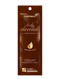 Body Chocolate - молочко-ускоритель для загара с натуральными бронзаторами и гранулами масла какао Tannymaxx