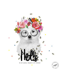 Картина Hello doggy J&J MOATTI