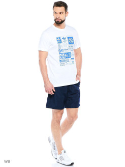 Шорты BASE SHORT WV    CONAVY/WHITE Adidas