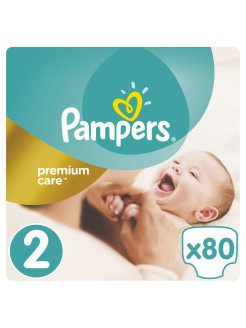 Подгузники Pampers Premium Care 3-6 кг, 2 размер, 80 шт. Pampers
