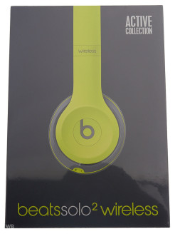 Гарнитура BEATS Solo 2 WL SE2 Active Collection, MKQ12ZE/A, накладные, желтый, беспроводные bluetoot Beats